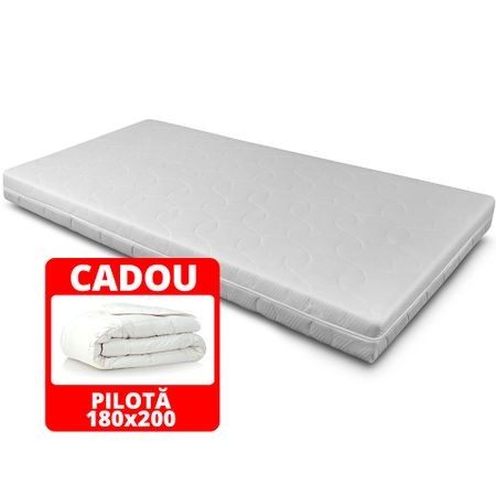 Saltea TrioFlex, 13+3+2, Structura complexa de poliuretan, Memory foam Hi-Tech, ortopedica, 180×200 cm